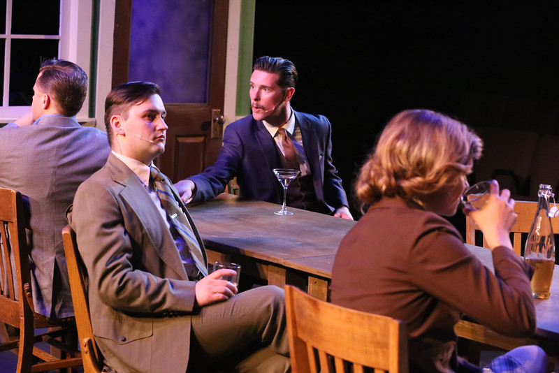 Jeffrey M. Wright, Sean Michael, Ryan Scott Foizey, Larissa White in New Line Theatre's ATOMIC. Photo Credit: Jill Ritter Lindberg