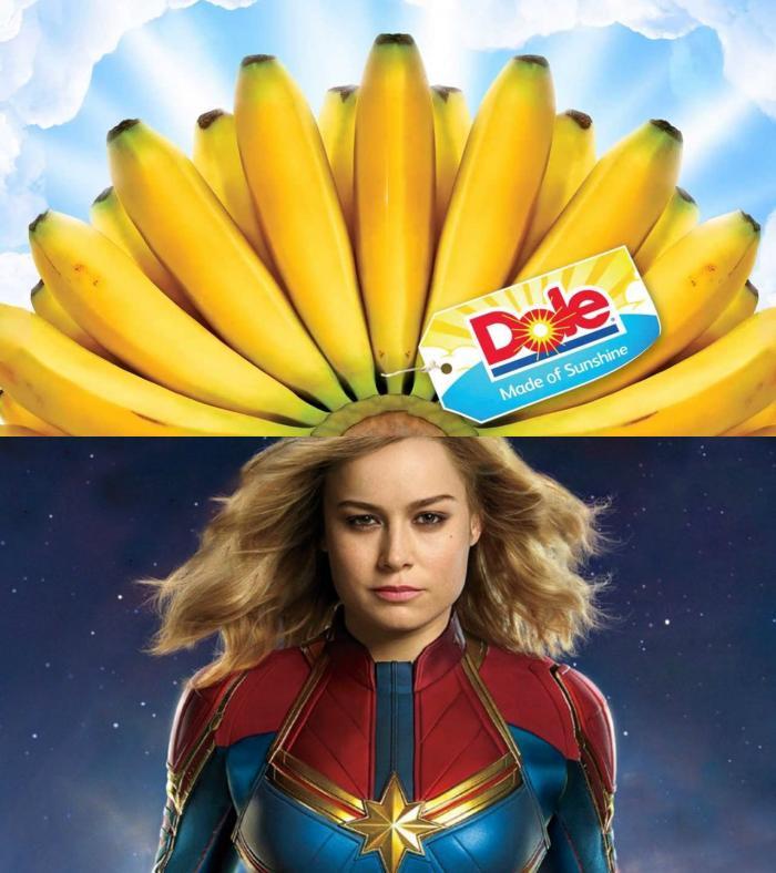Bananas Over Captain Marvel