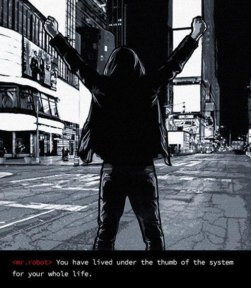 USA Network Mr. Robot Christian Slater Rami Malek