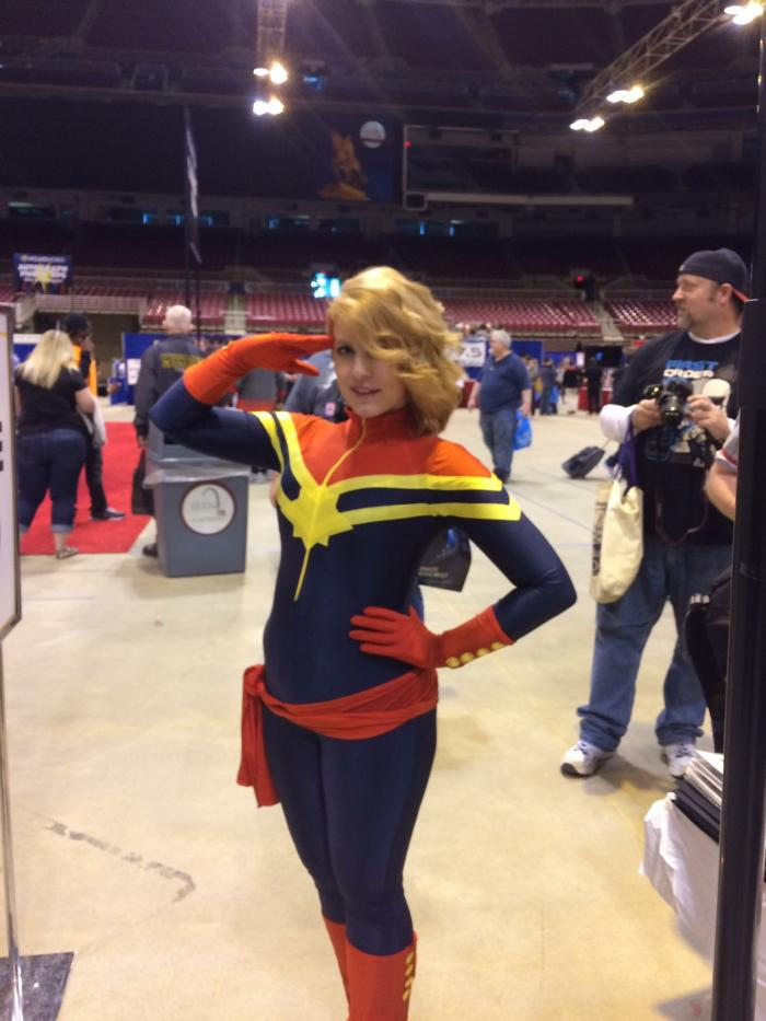 Ashe Lynne Cosplay as Captain Marvel