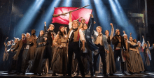 "The company of LES MISÉRABLES performs ""One Day More"" at the Fox Theatre. Photo by Matthew Murphy"
