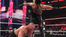 Rollins vs. Lesnar Cheap Pops Critical Blast
