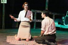 Larrisa White and Matt Pentecost in New Line Theatre's Bonnie & Clyde, Photo Credit: Jill Ritter Lindberg