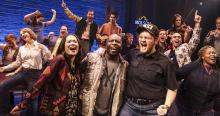 The cast and band of COME FROM AWAY, May 14-26, 2019 at the Fox Theatre. Photo Credit: The Fox Theare