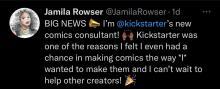 Jamila Rowser tweet