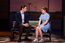 Steven Good and Christine Dwyer in the National Tour of WAITRESS, 3/26/19-4/7/19 at the Fox. Photo Credit Philicia Endelman